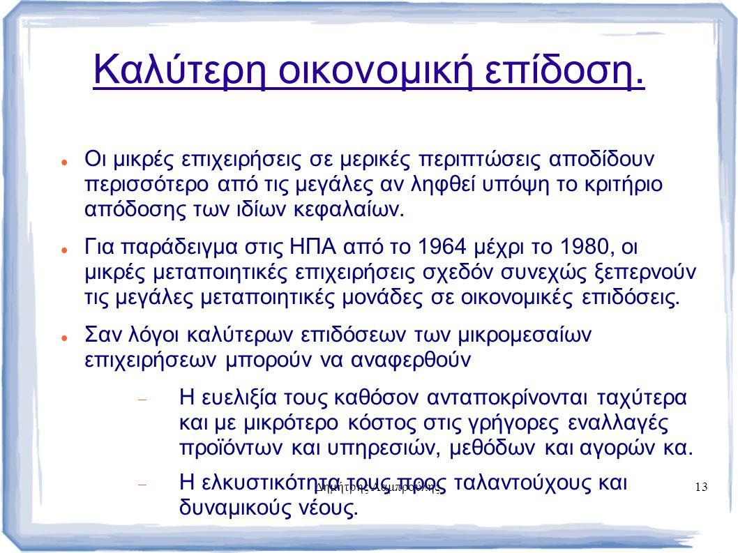 Δημήτρης Λαμπρούλης13 Καλύτερη οικονομική επίδοση.