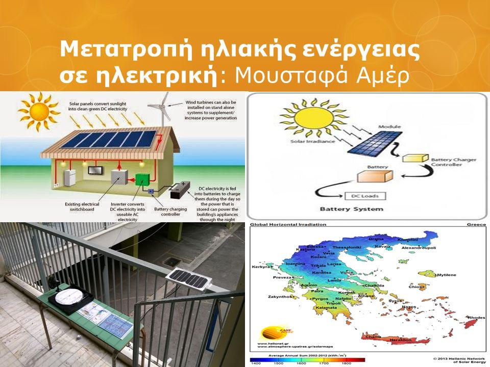 Μετατροπή ηλιακής ενέργειας σε ηλεκτρική: Μουσταφά Αμέρ