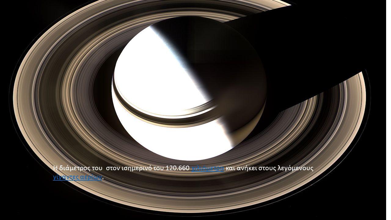 Εσωτερικό Κρόνου Το εσωτερικό του Κρόνου πιθανώς αποτελείται από έναν στερεό πυρήνα σιδήρου, νικελίου, πυριτίου και ενώσεις οξυγόνου και περιβάλλεται από ένα βαθύ στρώμα μεταλλικού υδρογόνου,σιδήρουνικελίουπυριτίουοξυγόνουυδρογόνου
