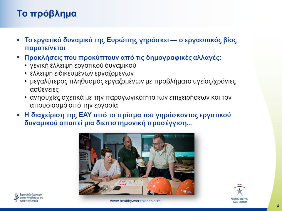 15 www.healthy-workplaces.eu/el Σημαντικές ημερομηνίες  Έναρξη της εκστρατείας: Απρίλιος 2016  Ευρωπαϊκές Εβδομάδες για την Ασφάλεια και την Υγεία στην Εργασία: Οκτώβριος 2016 και 2017  Τελετή απονομής των Βραβείων Καλής Πρακτικής για τους «Ασφαλείς και Υγιείς Χώρους Εργασίας»: Απρίλιος 2017  Διάσκεψη για τους Ασφαλείς και Υγιείς Χώρους Εργασίας: Νοέμβριος 2017