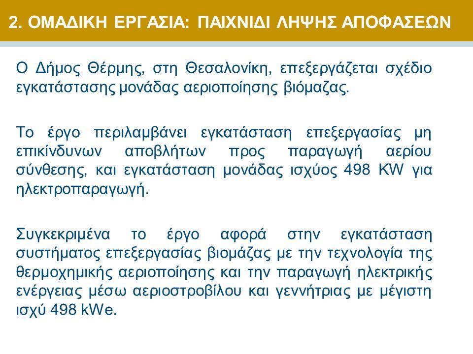 Ο Δήμος Θέρμης, στη Θεσαλονίκη, επεξεργάζεται σχέδιο εγκατάστασης μονάδας αεριοποίησης βιόμαζας. Το έργο περιλαμβάνει εγκατάσταση επεξεργασίας μη επικ
