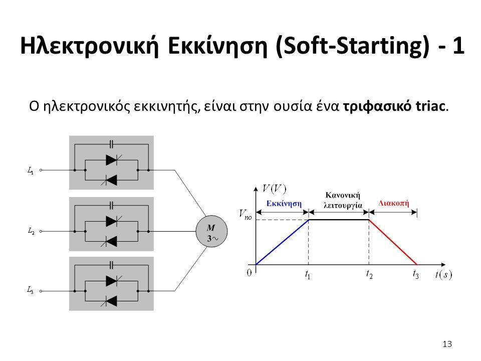 Ηλεκτρονική Εκκίνηση (Soft-Starting) - 1 O ηλεκτρονικός εκκινητής, είναι στην ουσία ένα τριφασικό triac.