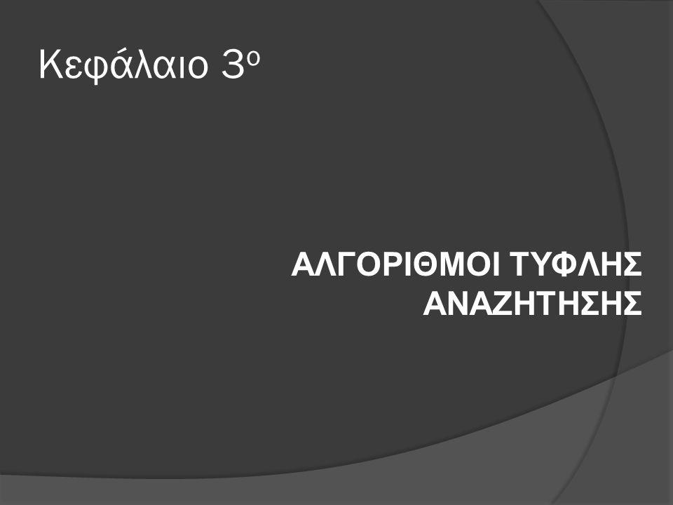 Κεφάλαιο 3 ο ΑΛΓΟΡΙΘΜΟΙ ΤΥΦΛΗΣ ΑΝΑΖΗΤΗΣΗΣ