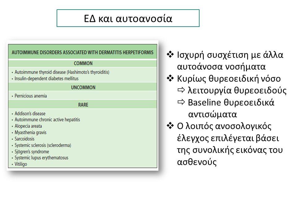 ΕΔ και αυτοανοσία  Ισχυρή συσχέτιση με άλλα αυτοάνοσα νοσήματα  Κυρίως θυρεοειδική νόσο  λειτουργία θυρεοειδούς  Baseline θυρεοειδικά αντισώματα 