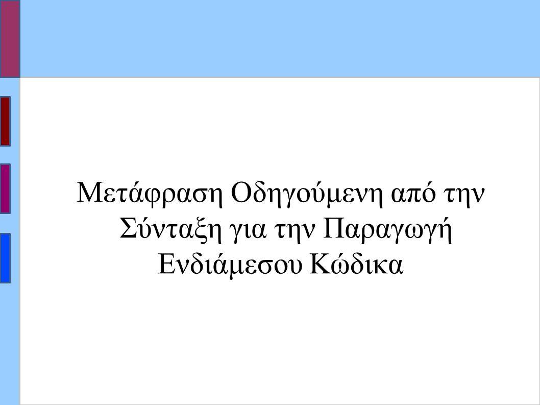 Μετάφραση Οδηγούμενη από την Σύνταξη για την Παραγωγή Ενδιάμεσου Κώδικα