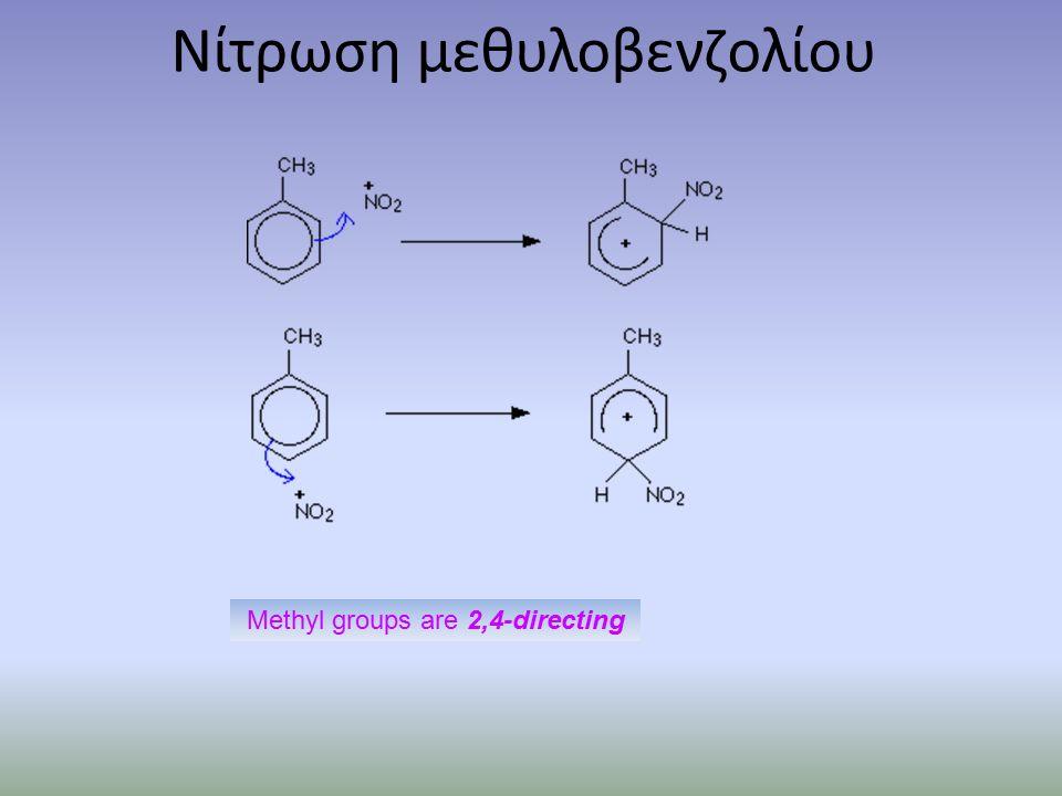 Νίτρωση μεθυλοβενζολίου Methyl groups are 2,4-directing