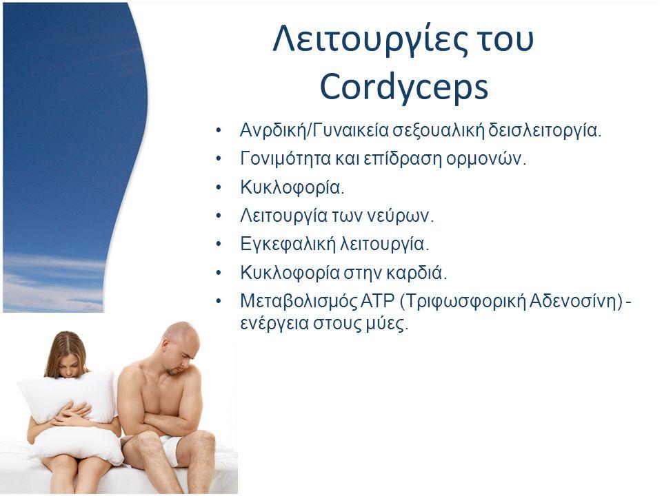 Λειτουργίες του Cordyceps Ανρδική/Γυναικεία σεξουαλική δεισλειτοργία.