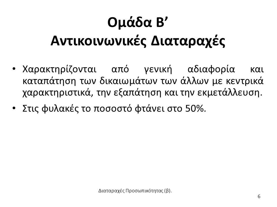 Βιβλιογραφία Διαταραχές Προσωπικότητας (β). 37