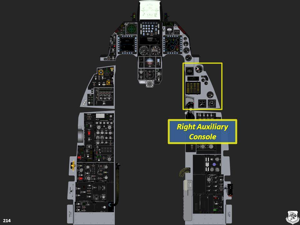 Right Auxiliary Console Right Auxiliary Console 214