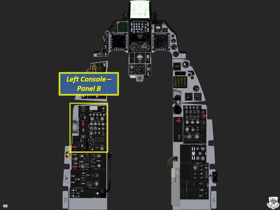 Left Console – Panel B Left Console – Panel B 48