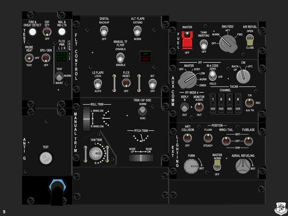 RWR Source Switch RWR Source Switch ON – Ο διακόπτης RWR πρέπει να είναι στη θέση ON για Ημί- SEMI και αυτόματη AUTO CMDS κατάσταση λειτουργίας ON – Ο διακόπτης RWR πρέπει να είναι στη θέση ON για Ημί- SEMI και αυτόματη AUTO CMDS κατάσταση λειτουργίας ON – Ο διακόπτης RWR πρέπει να είναι στη θέση ON για Ημί- SEMI και αυτόματη AUTO CMDS κατάσταση λειτουργίας ON – Ο διακόπτης RWR πρέπει να είναι στη θέση ON για Ημί- SEMI και αυτόματη AUTO CMDS κατάσταση λειτουργίας OFF – SEMI και AUTO κατάσταση είναι απενεργοποιημένες OFF – SEMI και AUTO κατάσταση είναι απενεργοποιημένες OFF – SEMI και AUTO κατάσταση είναι απενεργοποιημένες OFF – SEMI και AUTO κατάσταση είναι απενεργοποιημένες Λειτουργικό Λειτουργικό Λειτουργικό 116