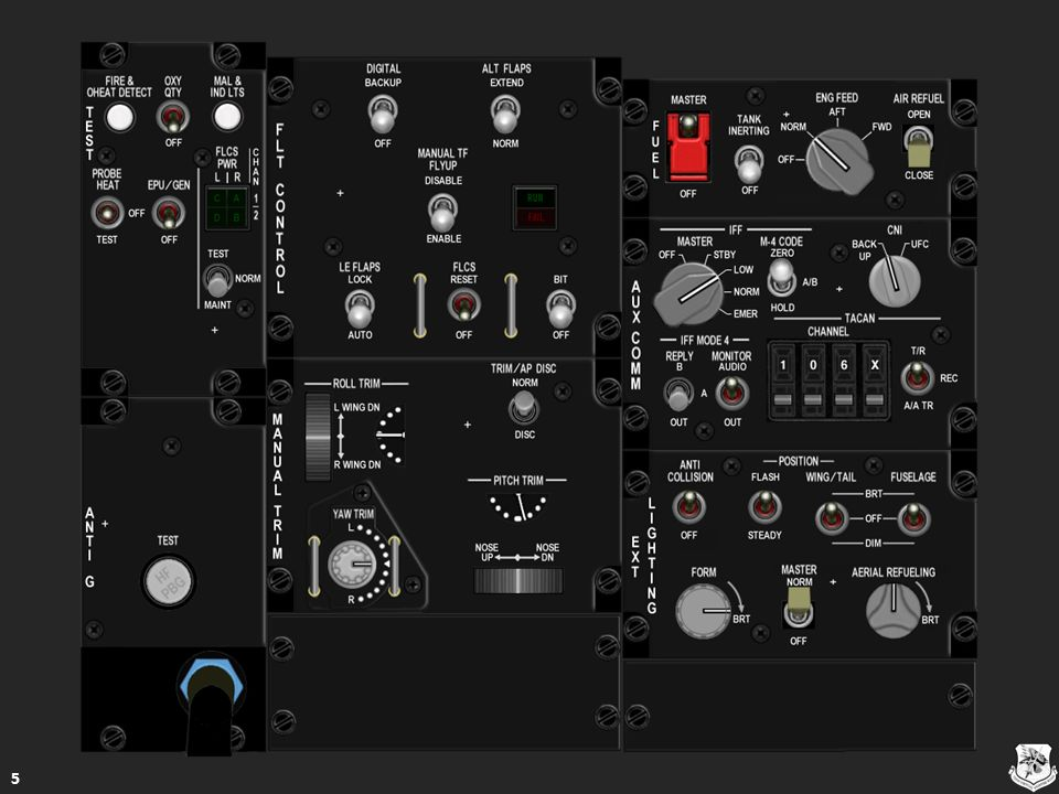 Airborne Video Tape Recorder Control Panel 66