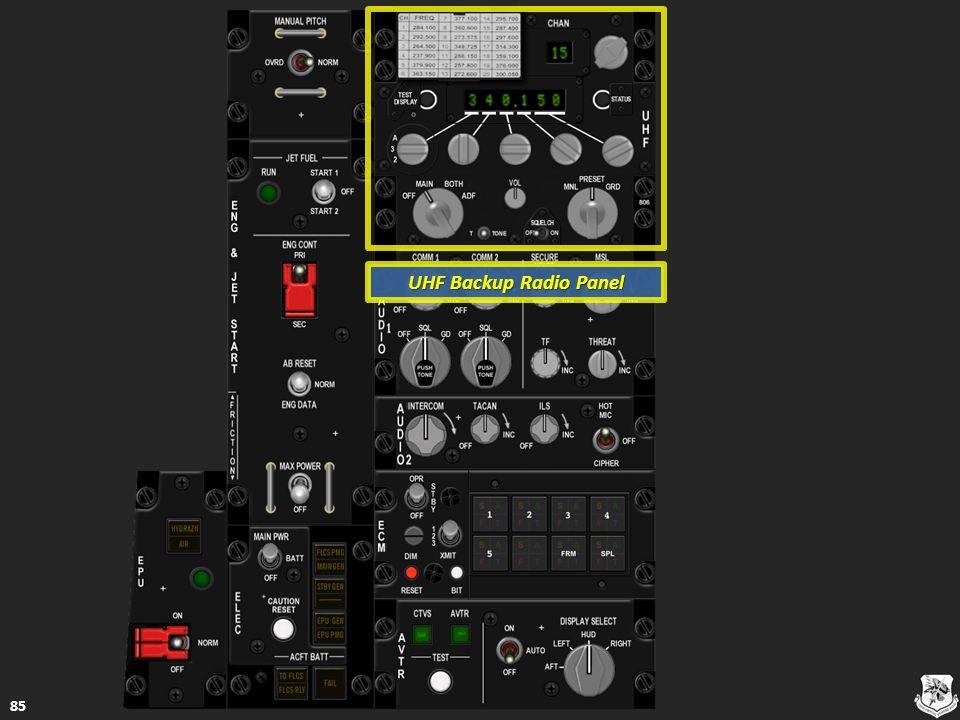 UHF Backup Radio Panel 85