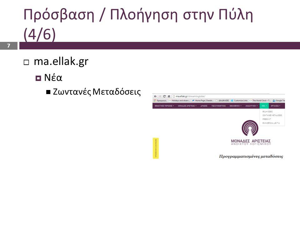 Υπηρεσία Τηλεκπαίδευσης Σύνδεση Εγγραφή στο Μάθημα Περιβάλλον / Εργαλεία 18