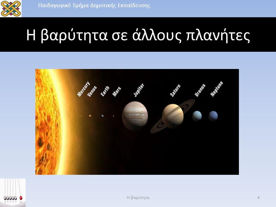 Η βαρύτητα σε άλλους πλανήτες Η βαρύτητα4