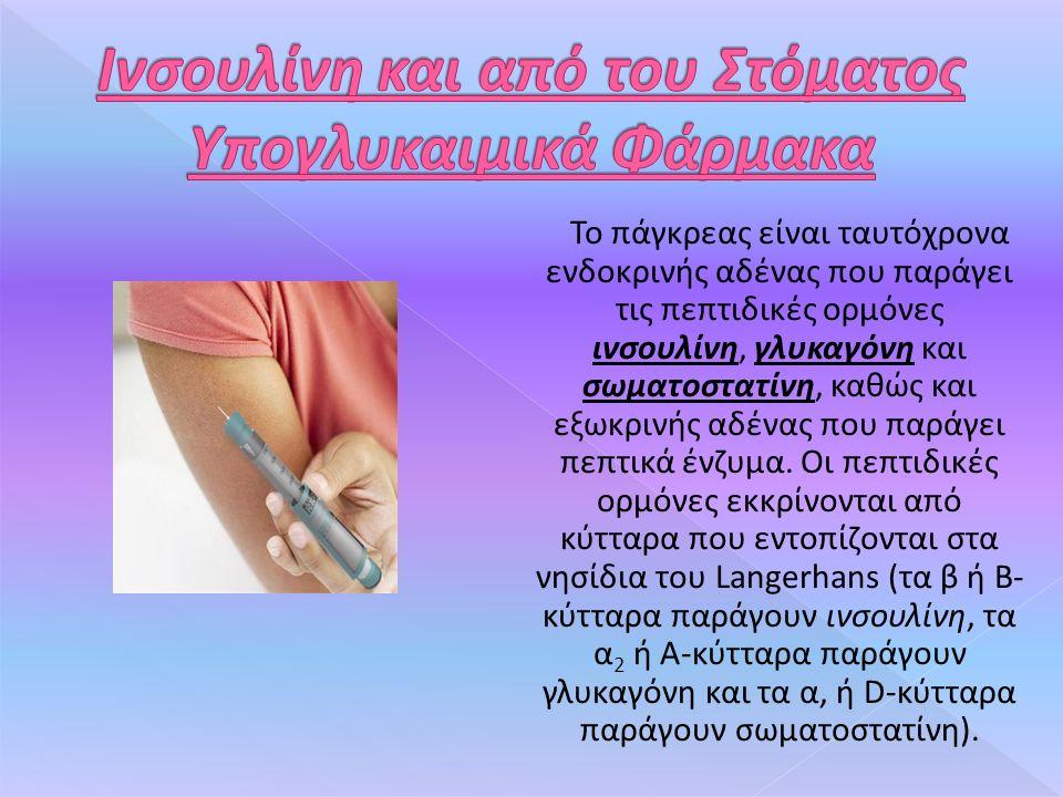 Το πάγκρεας είναι ταυτόχρονα ενδοκρινής αδένας που παράγει τις πεπτιδικές ορμόνες ινσουλίνη, γλυκαγόνη και σωματοστατίνη, καθώς και εξωκρινής αδένας που παράγει πεπτικά ένζυμα.