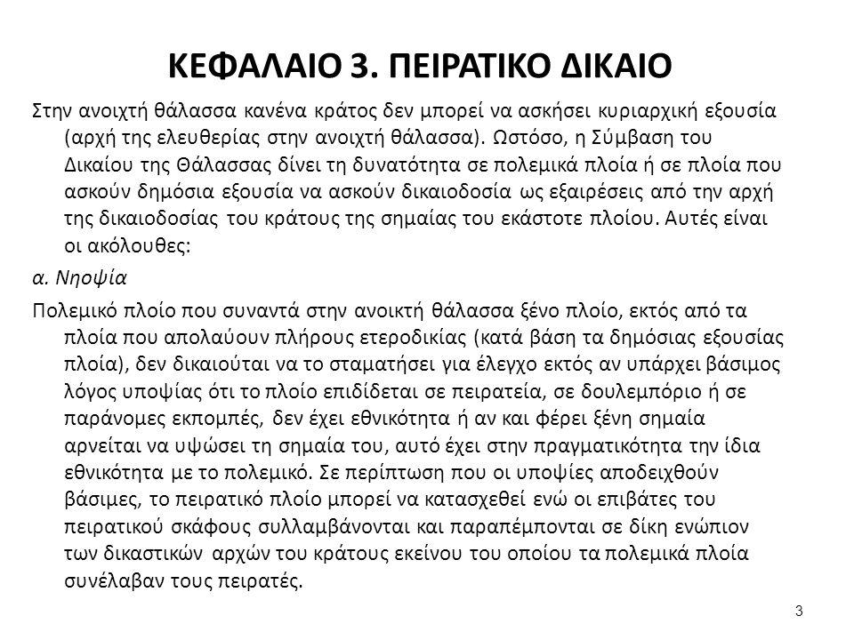 ΚΕΦΑΛΑΙΟ 3.ΠΕΙΡΑΤΙΚΟ ΔΙΚΑΙΟ β.
