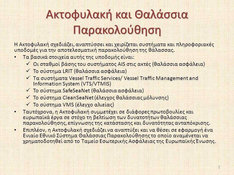Automatic Identification System (AIS) E) Ραδιοβοηθήματα Τα προϊόντα ραδιοβοήθησης του AIS (Aids to Navigation - AtoN) αναπτύχθηκαν για να παρέχουν τη δυνατότητα να εκπέμπουν τη θέση και τα ονόματων αντικειμένων εκτός πλοίων, όπως η βοήθεια στην πλοήγηση και οι θέσεις δεικτών και δυναμικά δεδομένα περιβάλλοντος δεικτών (π.χ.