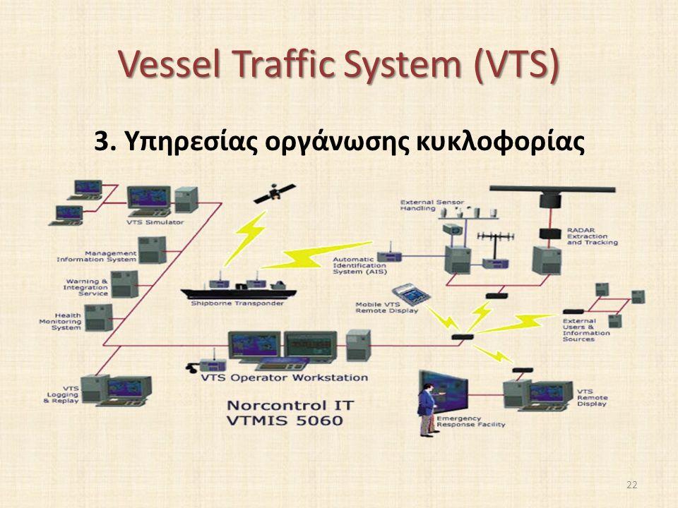 Vessel Traffic System (VTS) 3. Υπηρεσίας οργάνωσης κυκλοφορίας 22