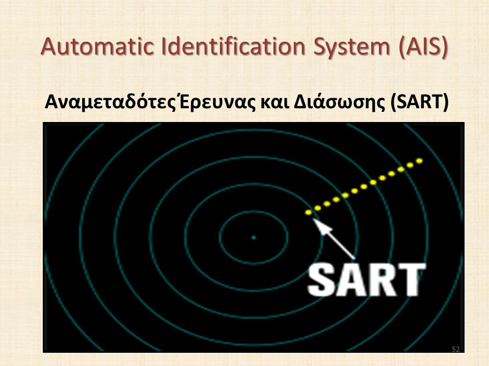Automatic Identification System (AIS) Αναμεταδότες Έρευνας και Διάσωσης (SART) 52