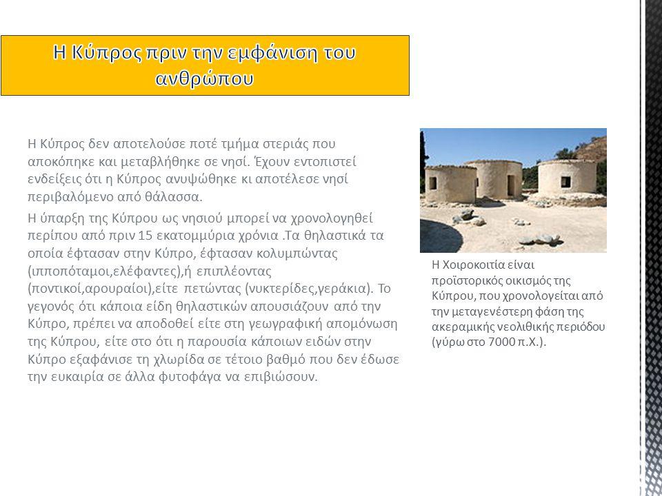  Αρχικά, στην Κύπρο η στάθμη της θάλασσας στην περιοχή είναι χαμηλή κατά 35 μέτρα και μια ζώνη στεριάς εκτείνεται κατά μήκος της νότιας ακτογραμμής.
