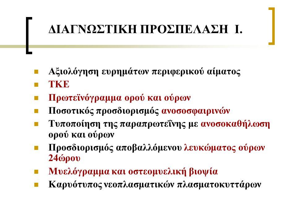 ΔΙΑΓΝΩΣΤΙΚΗ ΠΡΟΣΠΕΛΑΣΗ Ι.