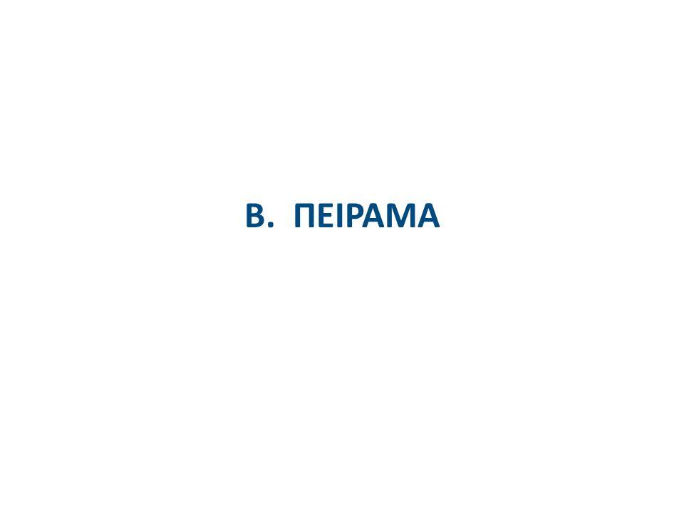Β. ΠΕΙΡΑΜΑ