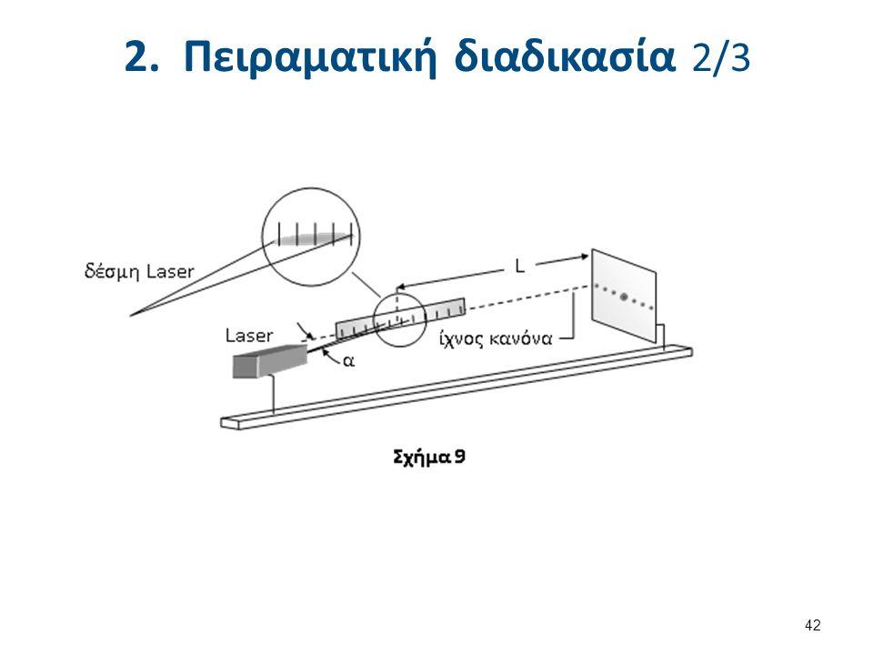 2. Πειραματική διαδικασία 2/3 42