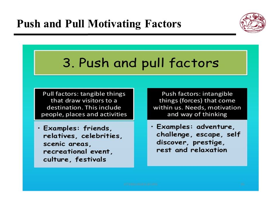 Push and Pull Motivating Factors