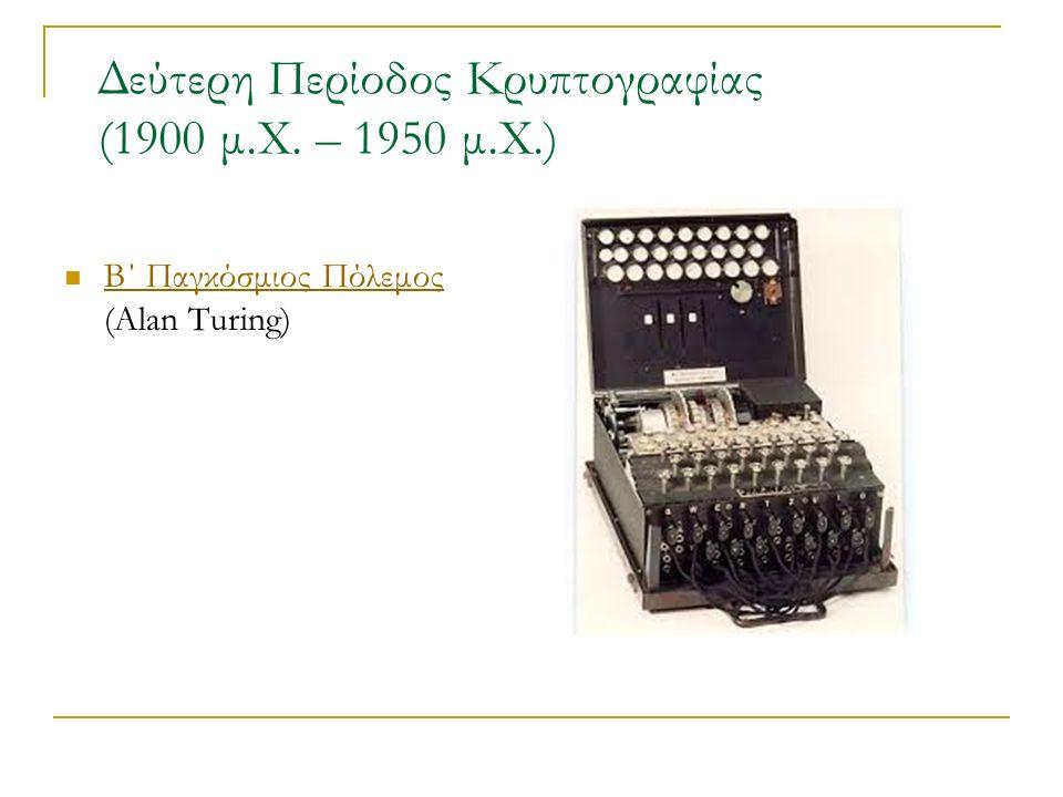 Δεύτερη Περίοδος Κρυπτογραφίας (1900 μ.Χ.