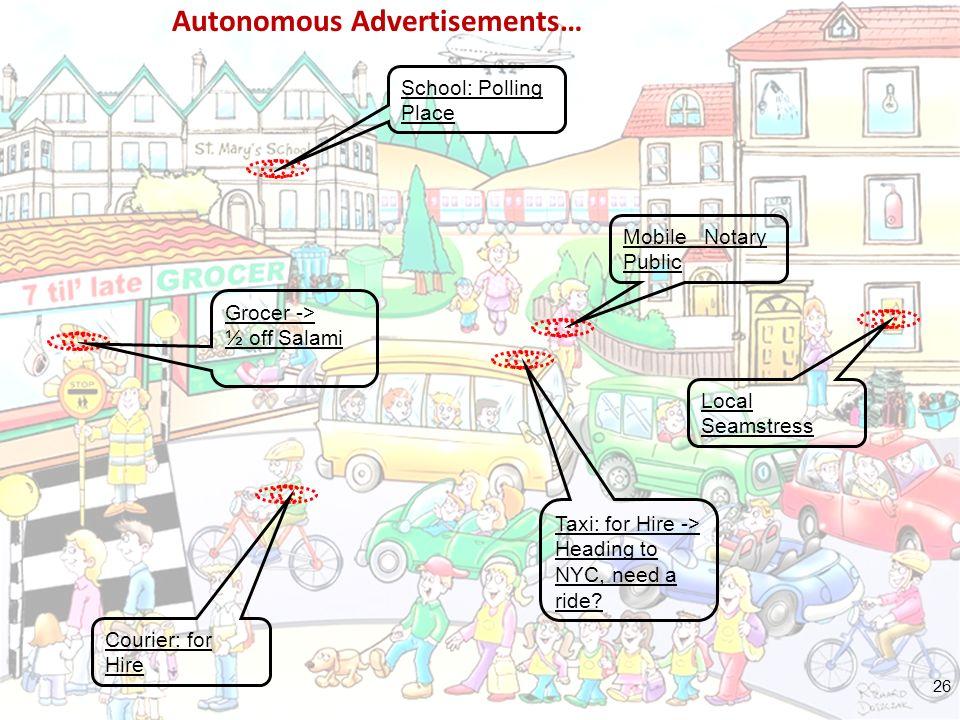 ΤΜΗΜΑ ΦΥΣΙΚΗΣ ΤΟΜΕΑΣ ΗΛΕΚΤΡΟΝΙΚΗΣ, ΥΠΟΛΟΓΙΣΤΩΝ, ΤΗΛΕΠΙΚΟΙΝΩΝΙΩΝ & ΑΥΤΟΜΑΤΙΣΜΟΥ Autonomous Advertisements… Mobile Notary Public Courier: for Hire Local Seamstress School: Polling Place Taxi: for Hire -> Heading to NYC, need a ride.