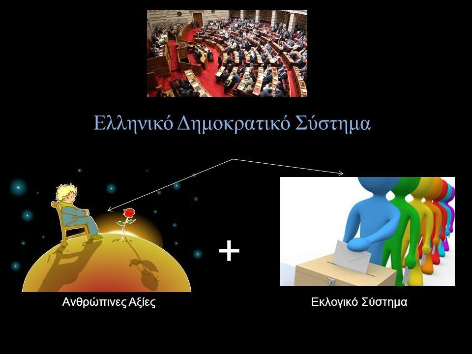 Ανθρώπινες ΑξίεςΕκλογικό Σύστημα + Ελληνικό Δημοκρατικό Σύστημα