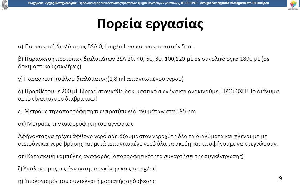 1010 Βιοχημεία - Αρχές Βιοτεχνολογίας - Προσδιορισμός συγκέντρωσης πρωτεϊνών, Τμήμα Τεχνολόγων γεωπόνων, ΤΕΙ ΗΠΕΙΡΟΥ - Ανοιχτά Ακαδημαϊκά Μαθήματα στο ΤΕΙ Ηπείρου Βιβλιογραφία 1.