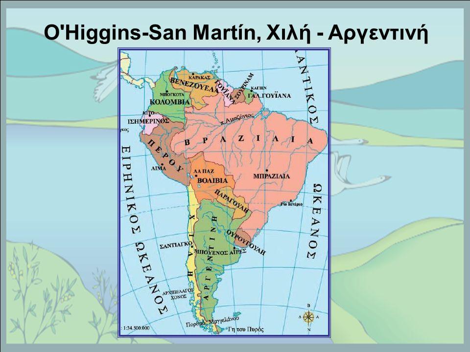 O Higgins-San Martín, Χιλή - Αργεντινή