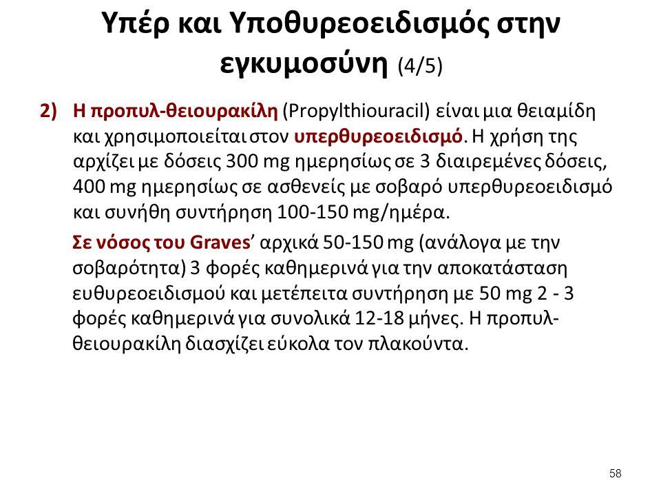 Υπέρ και Υποθυρεοειδισμός στην εγκυμοσύνη (4/5) 2)Η προπυλ-θειουρακίλη (Propylthiouracil) είναι μια θειαμίδη και χρησιμοποιείται στον υπερθυρεοειδισμό