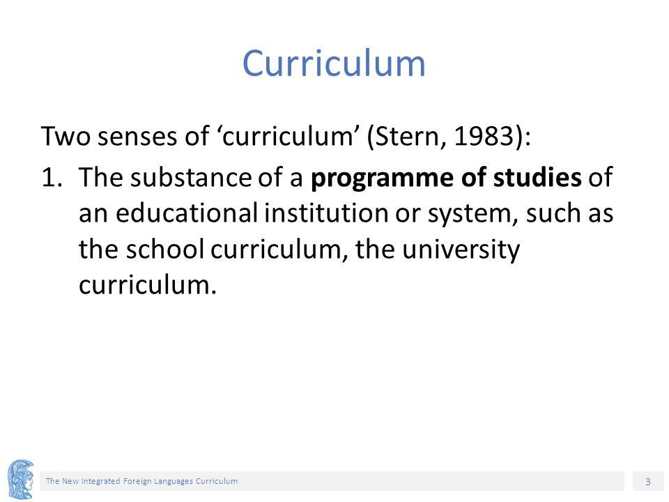 54 The New Integrated Foreign Languages Curriculum Παράρτημα 2: Καταγράφονται συγκεκριμένοι συσχετισμοί μεταξύ στοιχείων ύλης (των ενοτήτων εγχειριδίων).
