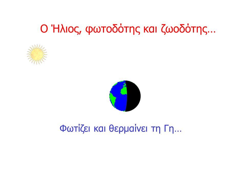 Ο Ήλιος, φωτοδότης και ζωοδότης… Φωτίζει και θερμαίνει τη Γη…