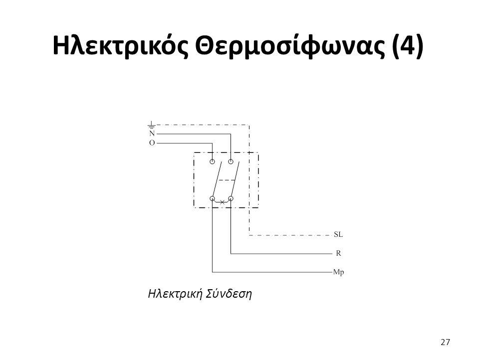 Ηλεκτρικός Θερμοσίφωνας (4) 27 Ηλεκτρική Σύνδεση