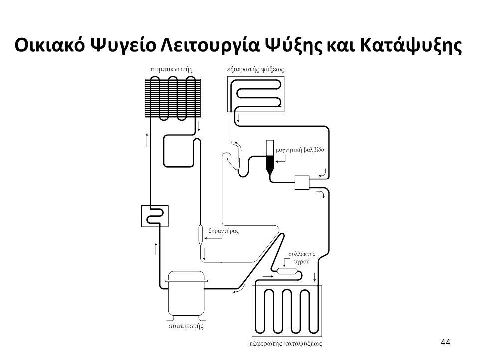 Οικιακό Ψυγείο Λειτουργία Ψύξης και Κατάψυξης 44