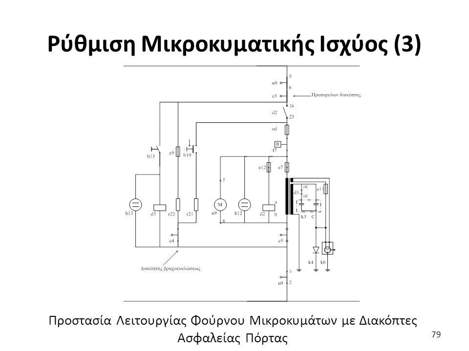 Ρύθμιση Μικροκυματικής Ισχύος (3) 79 Προστασία Λειτουργίας Φούρνου Μικροκυμάτων με Διακόπτες Ασφαλείας Πόρτας