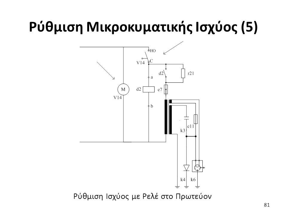 Ρύθμιση Μικροκυματικής Ισχύος (5) 81 Ρύθμιση Ισχύος με Ρελέ στο Πρωτεύον