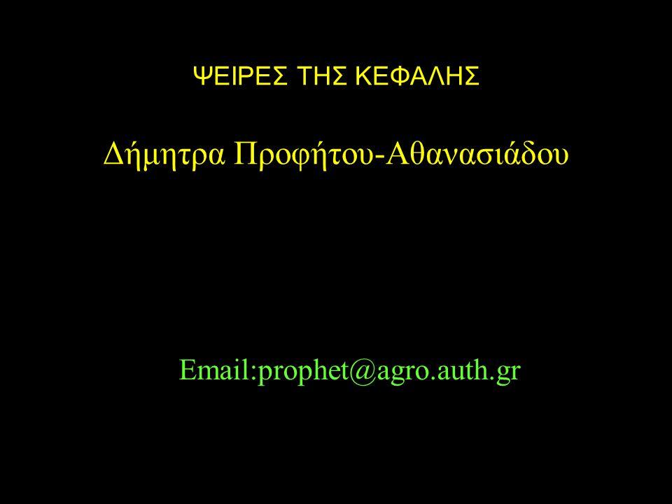 ΨΕΙΡΕΣ ΤΗΣ ΚΕΦΑΛΗΣ Δήμητρα Προφήτου-Αθανασιάδου Email:prophet@agro.auth.gr