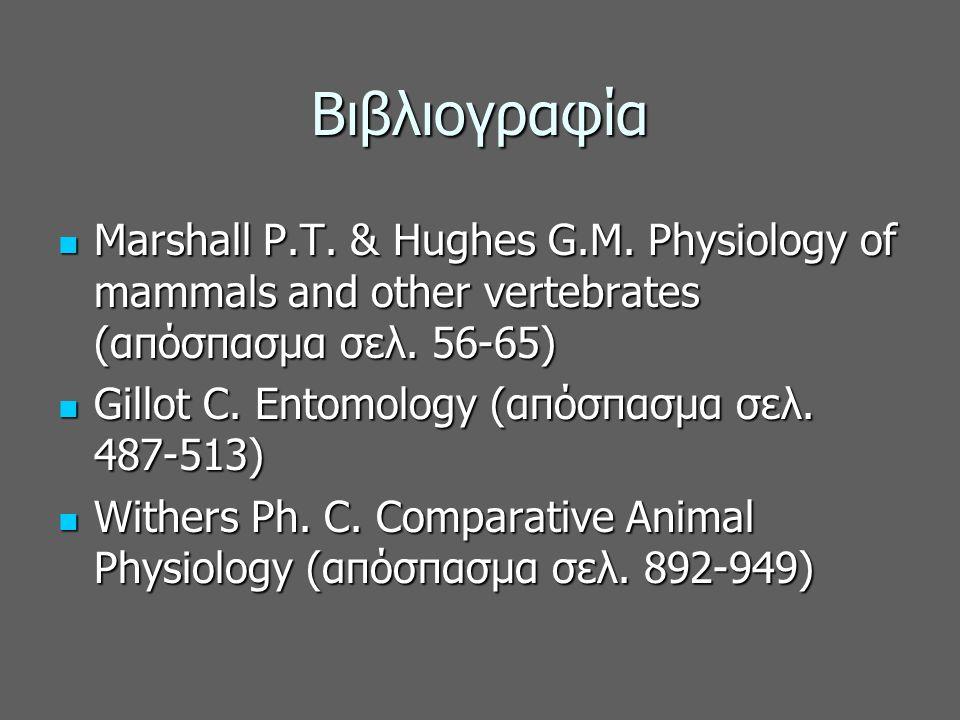 Βιβλιογραφία Marshall P.T. & Hughes G.M.