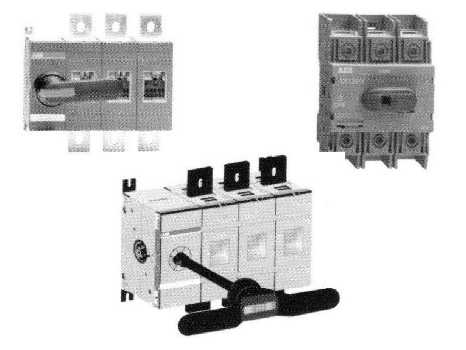 Χαρακτηριστικά στοιχεία διακόπτη φορτίου Ονομαστική τάση Ονομαστική συχνότητα Μέγιστο θερμικό ρεύμα Ρεύμα λειτουργίας ή ρεύμα απόζευξης Αριθμός κύκλων λειτουργίας Αντοχή σε βραχυκύκλωμα Αριθμός πόλων