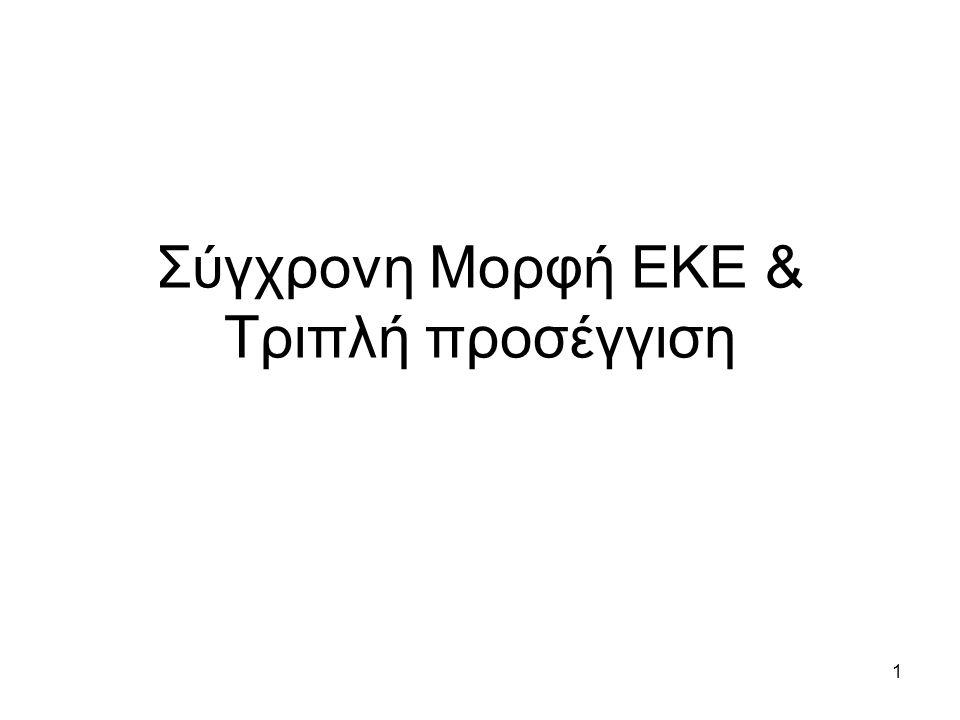 1 Σύγχρονη Μορφή ΕΚΕ & Τριπλή προσέγγιση