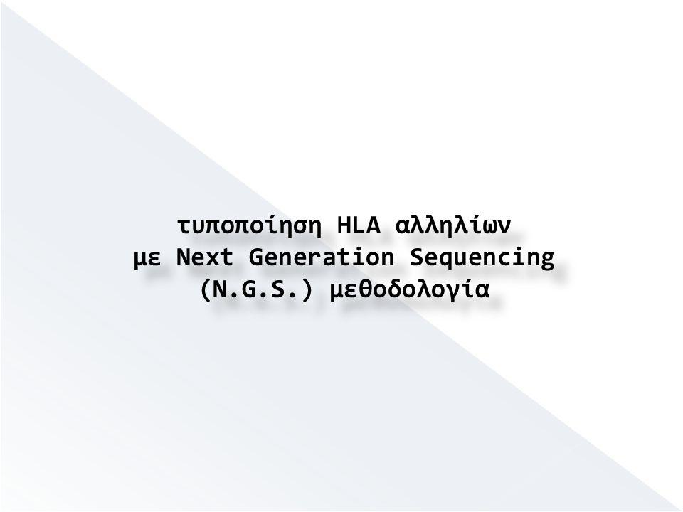 τυποποίηση HLA αλληλίων με Next Generation Sequencing (N.G.S.) μεθοδολογία τυποποίηση HLA αλληλίων με Next Generation Sequencing (N.G.S.) μεθοδολογία