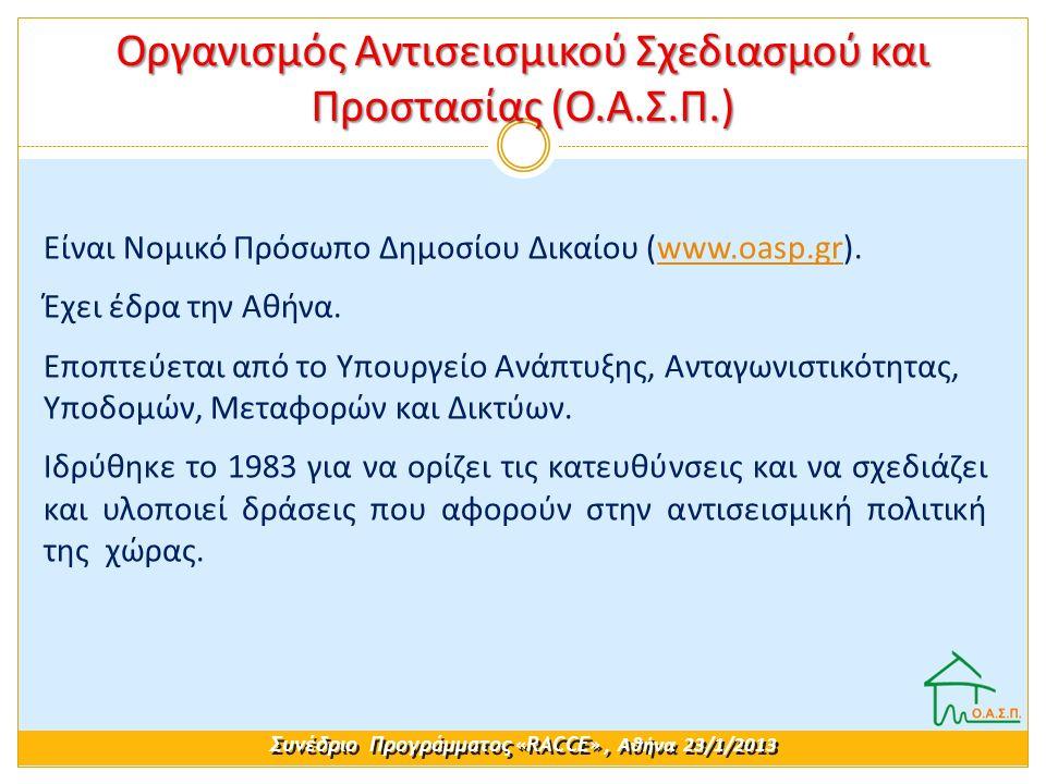Είναι Νομικό Πρόσωπο Δημοσίου Δικαίου (www.oasp.gr).www.oasp.gr Έχει έδρα την Αθήνα. Εποπτεύεται από το Υπουργείο Ανάπτυξης, Ανταγωνιστικότητας, Υποδο