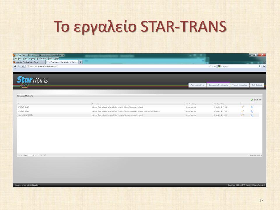 Το εργαλείο STAR-TRANS 37