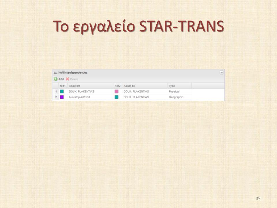 Το εργαλείο STAR-TRANS 39