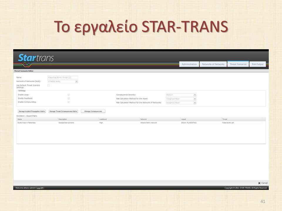 Το εργαλείο STAR-TRANS 41